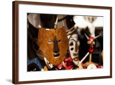 Traditional Mask Stall in Praca Do Rossio, Lisbon, Portugal-Ben Pipe-Framed Photographic Print