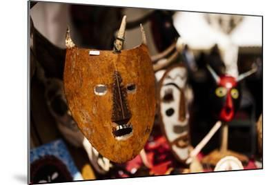 Traditional Mask Stall in Praca Do Rossio, Lisbon, Portugal-Ben Pipe-Mounted Photographic Print