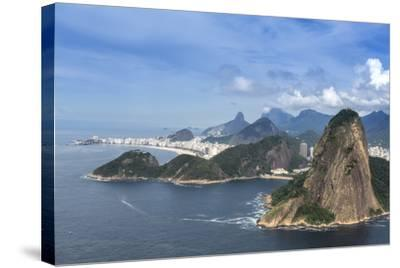 Aerial View of the Sugar Loaf-Alex Robinson-Stretched Canvas Print