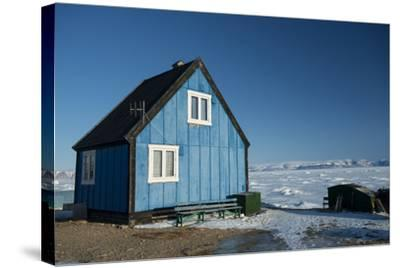 Colourful Wooden House in the Village of Qaanaaq-Louise Murray-Stretched Canvas Print