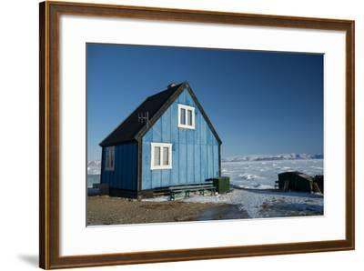 Colourful Wooden House in the Village of Qaanaaq-Louise Murray-Framed Photographic Print