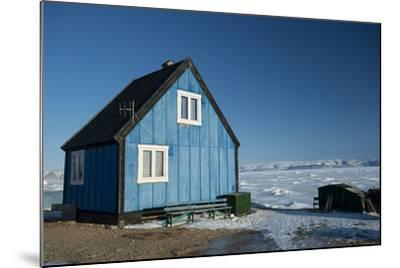 Colourful Wooden House in the Village of Qaanaaq-Louise Murray-Mounted Photographic Print