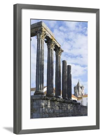 The Roman Temple of Diana and the Tower of Evora Cathedral-Alex Robinson-Framed Photographic Print