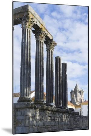 The Roman Temple of Diana and the Tower of Evora Cathedral-Alex Robinson-Mounted Photographic Print