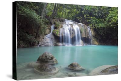 Erawan Falls, Kanchanaburi, Thailand, Southeast Asia, Asia-Alex Robinson-Stretched Canvas Print