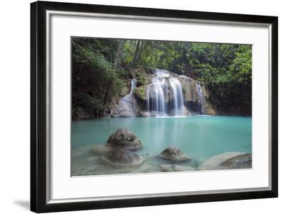 Erawan Falls, Kanchanaburi, Thailand, Southeast Asia, Asia-Alex Robinson-Framed Photographic Print