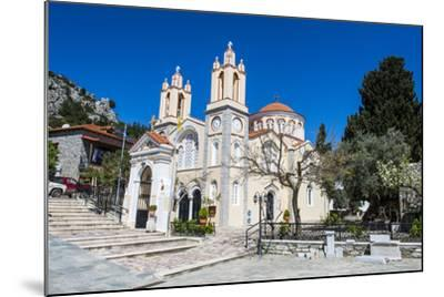 Church in Sianna Village, Rhodes, Dodecanese Islands, Greek Islands, Greece-Michael Runkel-Mounted Photographic Print