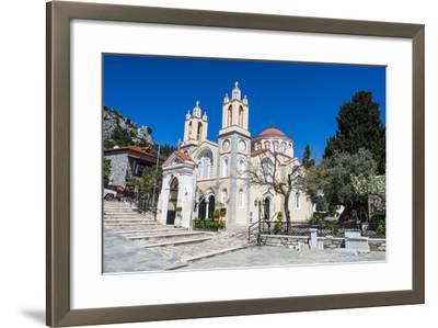 Church in Sianna Village, Rhodes, Dodecanese Islands, Greek Islands, Greece-Michael Runkel-Framed Photographic Print