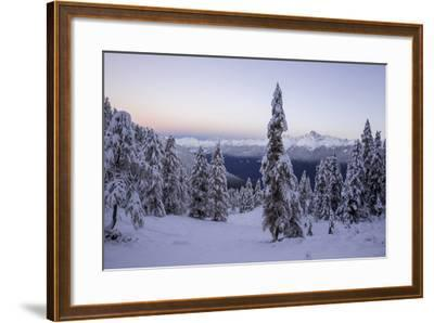 The Autumn Snowy Landscape, Casera Lake, Livrio Valley, Orobie Alps, Valtellina, Lombardy, Italy-Roberto Moiola-Framed Photographic Print
