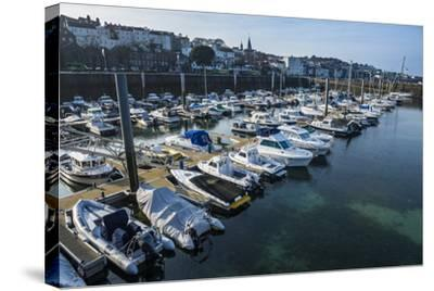 Sport Boat Harbour in Saint Peter Port, Guernsey, Channel Islands, United Kingdom-Michael Runkel-Stretched Canvas Print