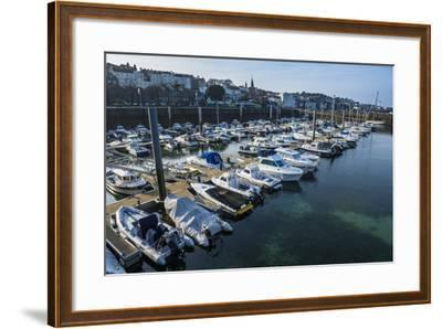 Sport Boat Harbour in Saint Peter Port, Guernsey, Channel Islands, United Kingdom-Michael Runkel-Framed Photographic Print