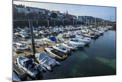 Sport Boat Harbour in Saint Peter Port, Guernsey, Channel Islands, United Kingdom-Michael Runkel-Mounted Photographic Print