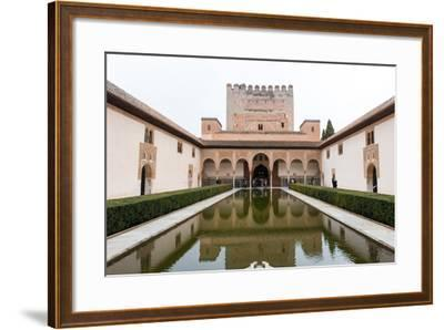 Patio De Arrayanes, Palacios Nazaries, the Alhambra, Granada, Andalucia, Spain-Carlo Morucchio-Framed Photographic Print
