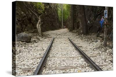 Hellfire Pass Museum, on the Infamous Thai-Burmese Death Railway-Alex Robinson-Stretched Canvas Print