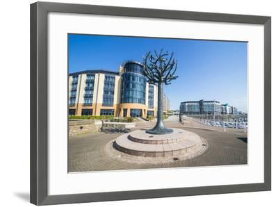 Modern Sculpture in the Harbour of St. Helier, Jersey, Channel Islands, United Kingdom, Europe-Michael Runkel-Framed Photographic Print