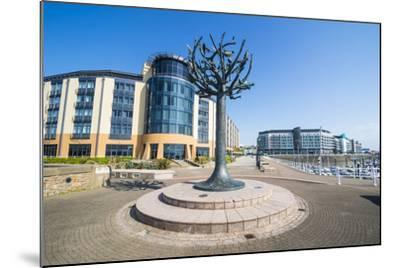 Modern Sculpture in the Harbour of St. Helier, Jersey, Channel Islands, United Kingdom, Europe-Michael Runkel-Mounted Photographic Print