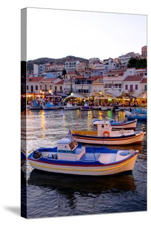 The Port of Pythagorio, Samos Island, North Aegean Islands, Greek Islands, Greece, Europe-Carlo Morucchio-Stretched Canvas Print