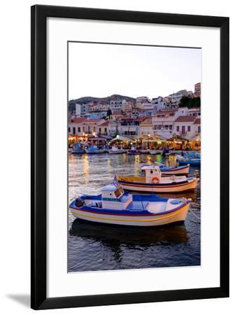 The Port of Pythagorio, Samos Island, North Aegean Islands, Greek Islands, Greece, Europe-Carlo Morucchio-Framed Photographic Print