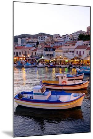 The Port of Pythagorio, Samos Island, North Aegean Islands, Greek Islands, Greece, Europe-Carlo Morucchio-Mounted Photographic Print