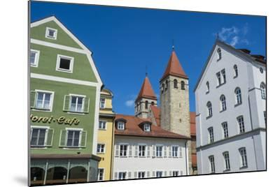 Medieval Patrician Houses and Towers in Regensburg, Bavaria, Germany-Michael Runkel-Mounted Photographic Print