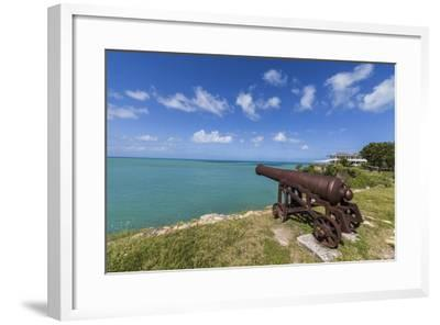 A Cannon Dating from the 17th Century, Fort James, Antigua, Leeward Islands, West Indies-Roberto Moiola-Framed Photographic Print