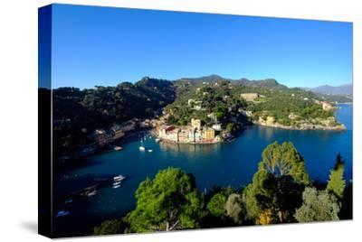 The Bay of Portofino Seen from Castello Brown, Genova (Genoa), Liguria, Italy, Europe-Carlo Morucchio-Stretched Canvas Print