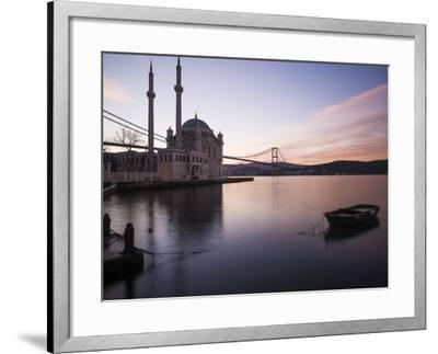 Exterior of Ortakoy Mosque and Bosphorus Bridge at Dawn, Ortakoy, Istanbul, Turkey-Ben Pipe-Framed Photographic Print