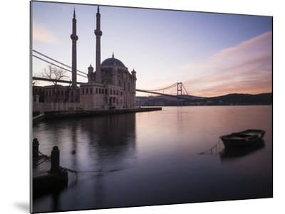Exterior of Ortakoy Mosque and Bosphorus Bridge at Dawn, Ortakoy, Istanbul, Turkey-Ben Pipe-Mounted Photographic Print