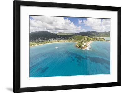 Aerial View of the Small Peninsula That Houses Carlisle Resorts-Roberto Moiola-Framed Photographic Print