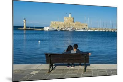 The Old Agios Nikolaos Fortress and Lighthouse in Mandraki Harbour-Michael Runkel-Mounted Photographic Print