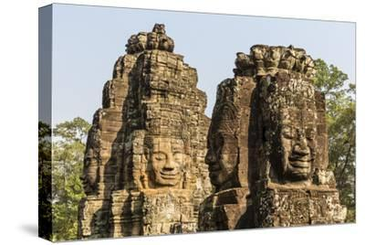 Four-Faced Towers in Prasat Bayon, Angkor Thom, Angkor, Siem Reap, Cambodia-Michael Nolan-Stretched Canvas Print