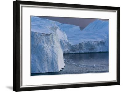 Icebergs in Ilulissat Icefjord, Greenland, Denmark, Polar Regions-Sergio Pitamitz-Framed Photographic Print