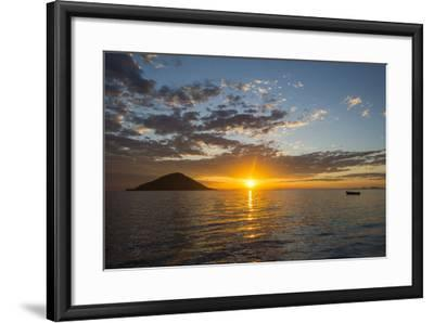Sunset at Lake Malawi, Cape Maclear, Malawi, Africa-Michael Runkel-Framed Photographic Print