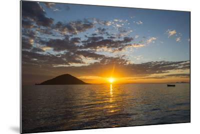 Sunset at Lake Malawi, Cape Maclear, Malawi, Africa-Michael Runkel-Mounted Photographic Print