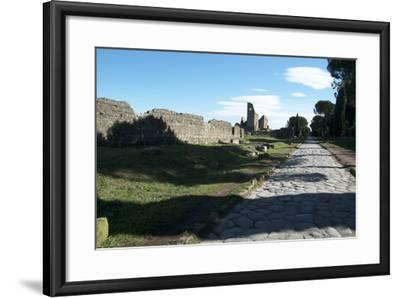 The Queen of Roads of the Old Roman Road System Was the Appian Way-Oliviero Olivieri-Framed Photographic Print