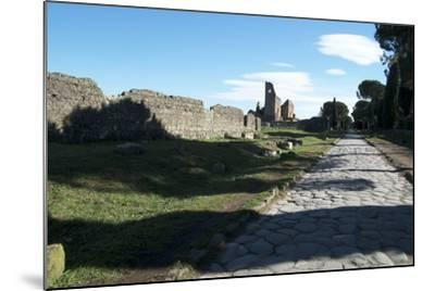 The Queen of Roads of the Old Roman Road System Was the Appian Way-Oliviero Olivieri-Mounted Photographic Print