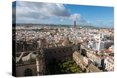View of Seville from Giralda Bell Tower, Seville, Andalucia, Spain-Carlo Morucchio-Stretched Canvas Print