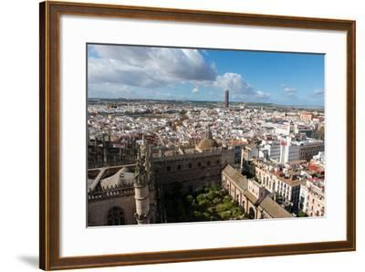 View of Seville from Giralda Bell Tower, Seville, Andalucia, Spain-Carlo Morucchio-Framed Photographic Print