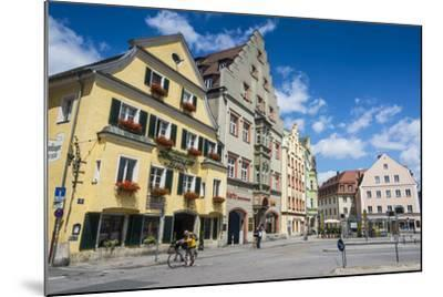 Old Trader Houses on Arnulfsplatz, a Square in Regensburg, Bavaria, Germany-Michael Runkel-Mounted Photographic Print