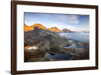 Autumn Landscape at the Natural Park of Mont Avic, Lac Blanc, Aosta Valley, Graian Alps, Italy-Roberto Moiola-Framed Photographic Print