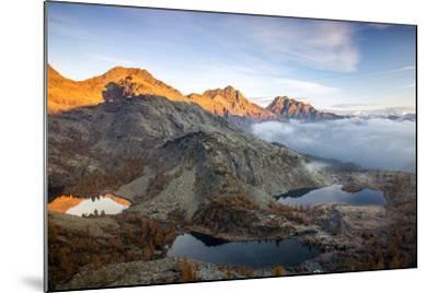 Autumn Landscape at the Natural Park of Mont Avic, Lac Blanc, Aosta Valley, Graian Alps, Italy-Roberto Moiola-Mounted Photographic Print