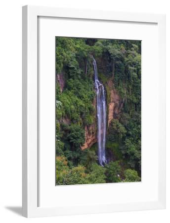 Manchewe Falls Near Livingstonia, Malawi, Africa-Michael Runkel-Framed Photographic Print
