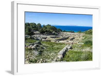 Ruins of Ancient Kameiros, Kalavarda, Rhodes, Dodecanese Islands, Greek Islands, Greece-Michael Runkel-Framed Photographic Print