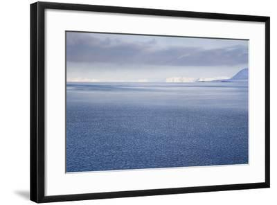 View from Longyearbyen to Adventfjorden Fjord-Stephen Studd-Framed Photographic Print