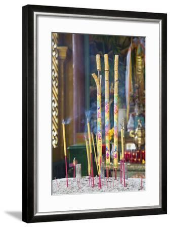 Phuoc an Hoi Quan Pagoda, Cholon, Ho Chi Minh City, Vietnam, Indochina, Southeast Asia, Asia-Ian Trower-Framed Photographic Print