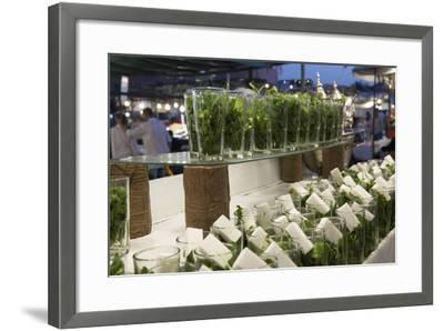 Glasses of Mint Tea, Some with Sugar, Djemaa El Fna, Marrakesh, Morocco, North Africa, Africa-Stephen Studd-Framed Photographic Print