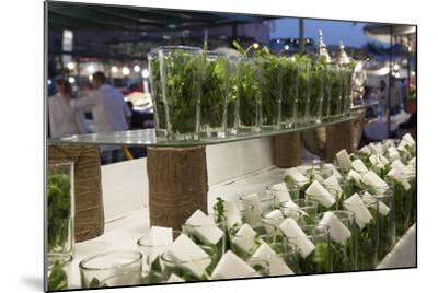 Glasses of Mint Tea, Some with Sugar, Djemaa El Fna, Marrakesh, Morocco, North Africa, Africa-Stephen Studd-Mounted Photographic Print