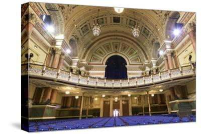 Town Hall Interior, Leeds, West Yorkshire, Yorkshire, England, United Kingdom-Nick Servian-Stretched Canvas Print