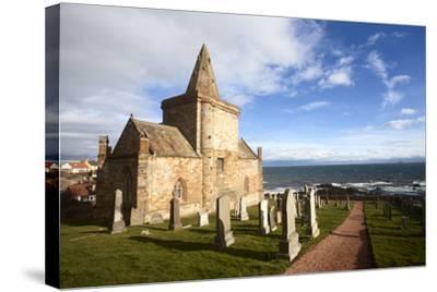 The Auld Kirk and Kirkyard on the Fife Coast at St. Monans, Fife, Scotland, United Kingdom, Europe-Mark Sunderland-Stretched Canvas Print