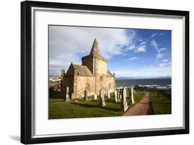 The Auld Kirk and Kirkyard on the Fife Coast at St. Monans, Fife, Scotland, United Kingdom, Europe-Mark Sunderland-Framed Photographic Print